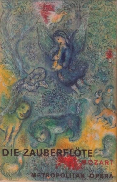 8: CHAGALL Magic Flute Lithograph Poster by Charles