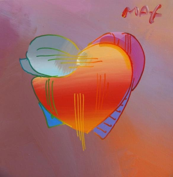 11: MAX, Peter. 1992 Acrylic on Canvas - Heart.