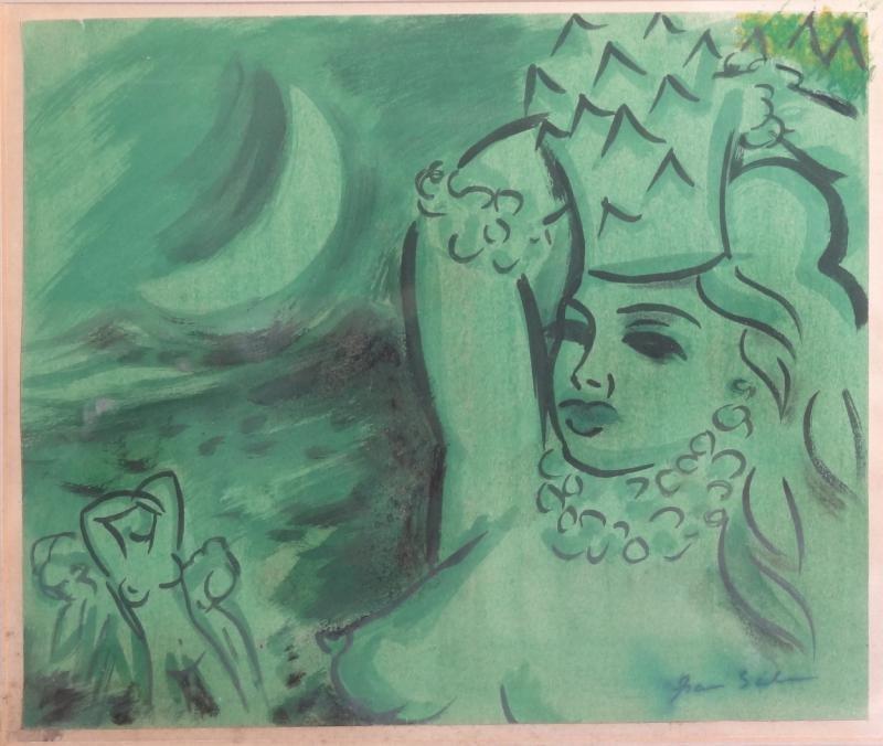 13: GRAU SALA, Emilio. Gouache on Paper of Nudes.