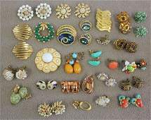 113 Vintage Signed Costume Jewelry including Haskell