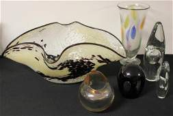 352: 2 Pieces of Bruchetta? Blown Glass with Other