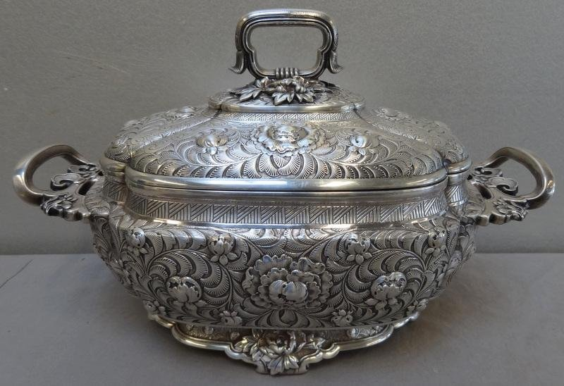 139: Tiffany & Co. Ornate Sterling Lidded Tureen.
