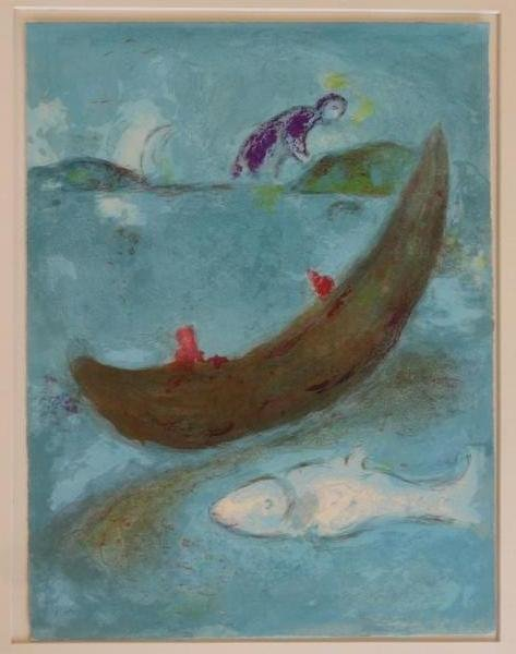 "6: CHAGALL, Marc. Lithograph. ""Daphnis and Chloe: The"
