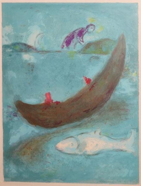 "6: CHAGALL, Marc. Lithograph. ""Daphnis and Chloe: The - 2"