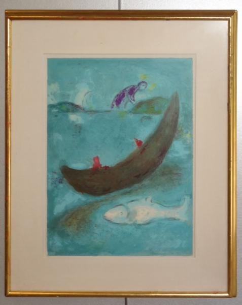"6: CHAGALL, Marc. Lithograph. ""Daphnis and Chloe: The - 3"