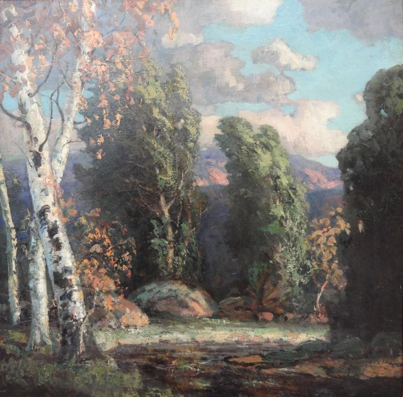 17: KOENIGER, Walter. O/C Landscape with Willows and
