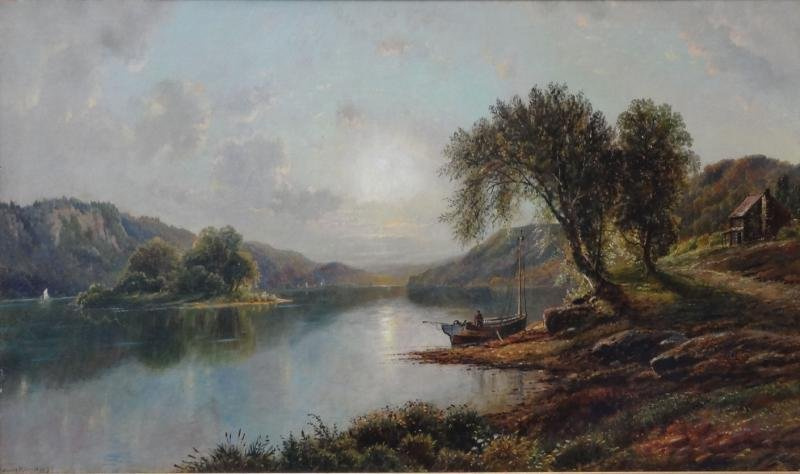 18: LEWIS, Edmund D. O/C Landscape with Lake and