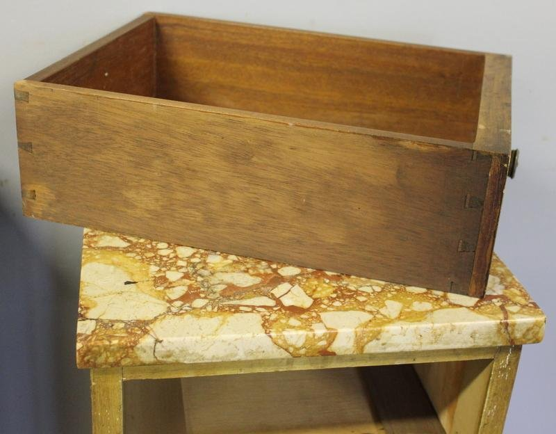 39: Pair of Satinwood Marble Top 5 Drawer Cabinets. - 3