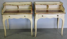 Pair Of Vintage French Country One Drawer Stands.