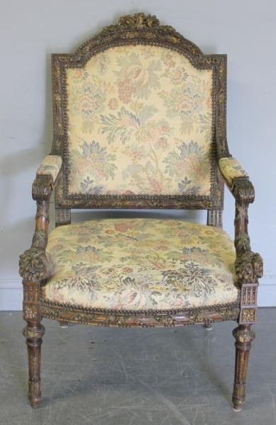 67: Louis XV Style Carved Armchair.