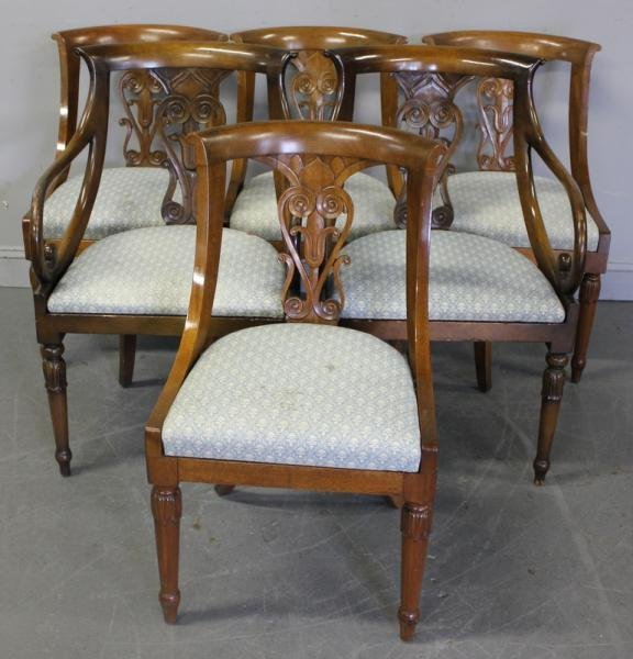 76: 6 Neoclassical Style Chairs.