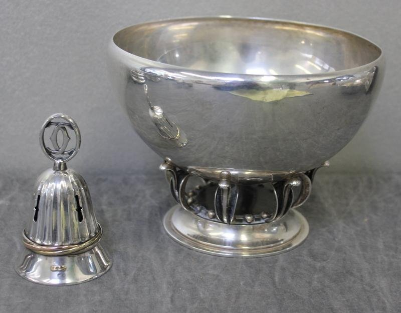 85: STERLING. 2 Pieces. Georg Jensen Denmark Bowl and