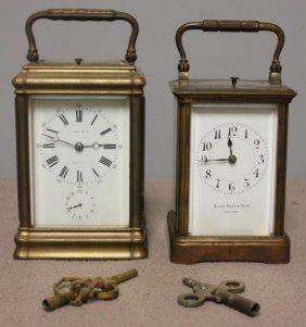 2 Repeater Carriage Clocks,1 Tiffany &
