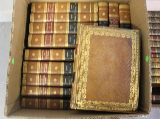 166: Large Assortment of Leather Bound and Other Books. - 2