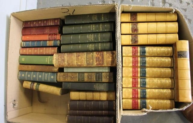 166: Large Assortment of Leather Bound and Other Books. - 5