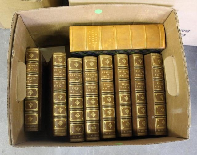166: Large Assortment of Leather Bound and Other Books. - 6