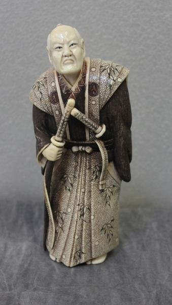 364: Asian Ivory Figure of a Samurai.