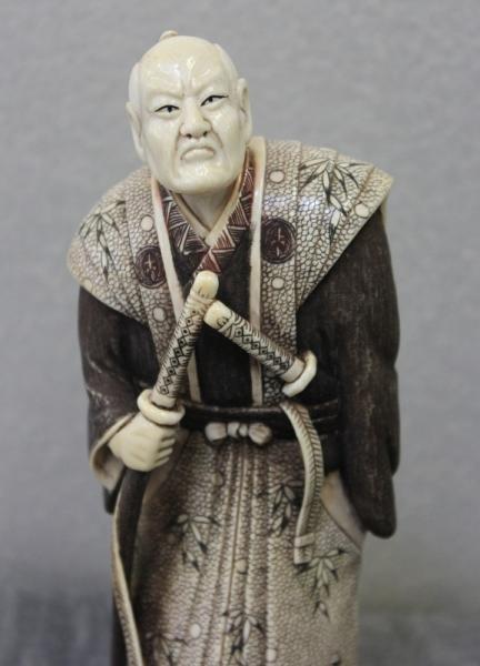 364: Asian Ivory Figure of a Samurai. - 2