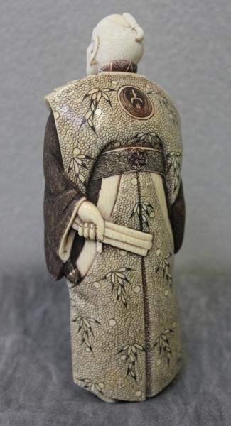 364: Asian Ivory Figure of a Samurai. - 3