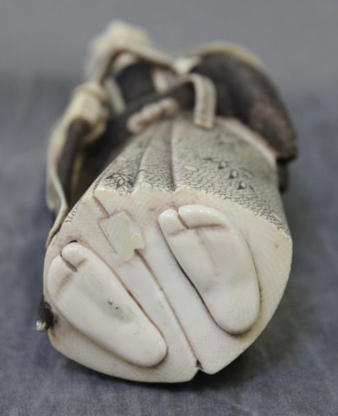 364: Asian Ivory Figure of a Samurai. - 4