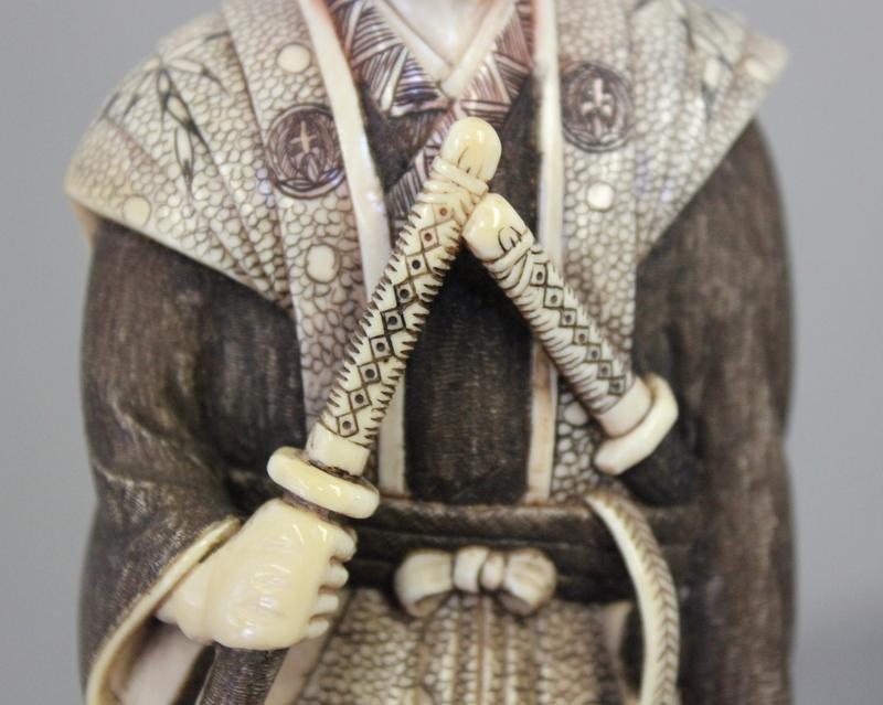 364: Asian Ivory Figure of a Samurai. - 5
