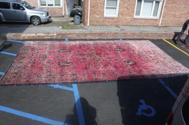 152: Large Signed Handmade Estate Carpet