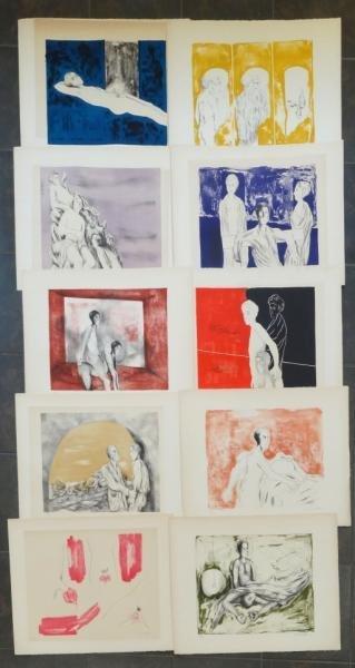 4: DUTARY, Alberto. Portfolio of 10 Lithos for Jean