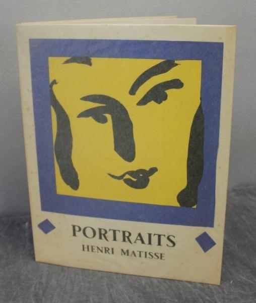 """5: MATISSE, Henri. """"Portraits."""" Book."""