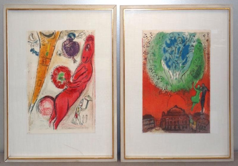 6: After CHAGALL. Two Lithographs.