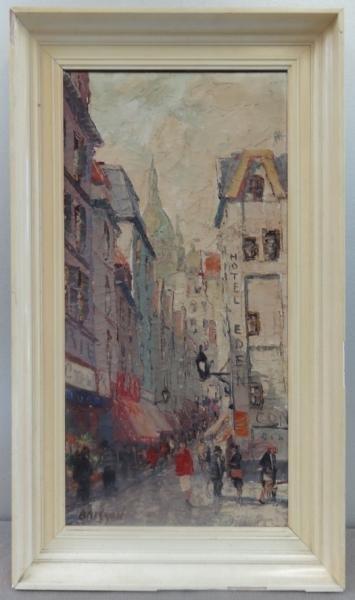7: BRISSON, Marcel. O/C Parisian Street Scene.