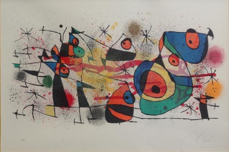 3: MIRO. Pencil Signed Lithograph.