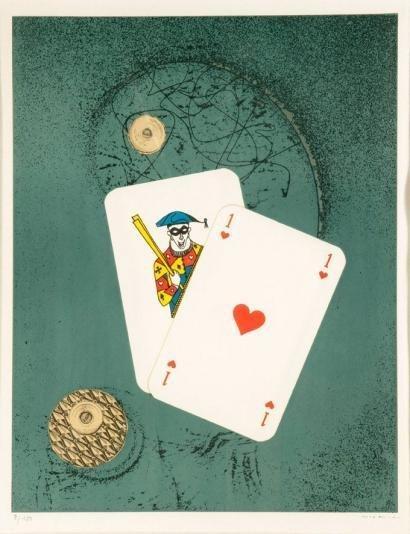 """4: ERNST, Max. Litho """"Affiche pour le Surréalisme."""""""