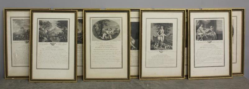 6: Set of 9 French Steel Engravings.