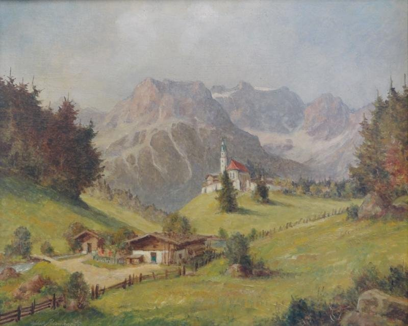 9: REINHARDT, Willy. O/B German Landscape.