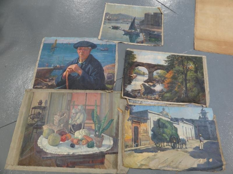 11: NEWMAN, Joseph. 5 Oils on Canvas.