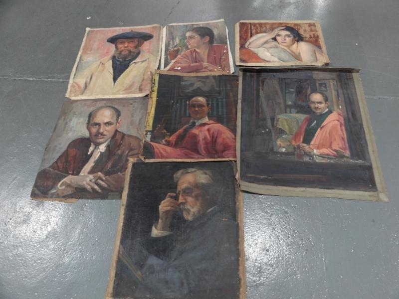 13: NEWMAN, Joseph. 7 Oils on Canvas.