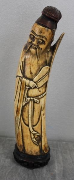 12: Asian Ivory Carving of a Wise Man .