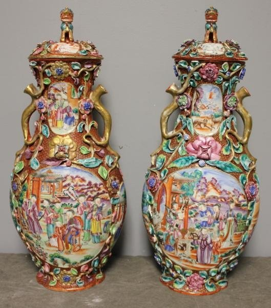 36: Important Chinese Porcelain Lidded Urns.