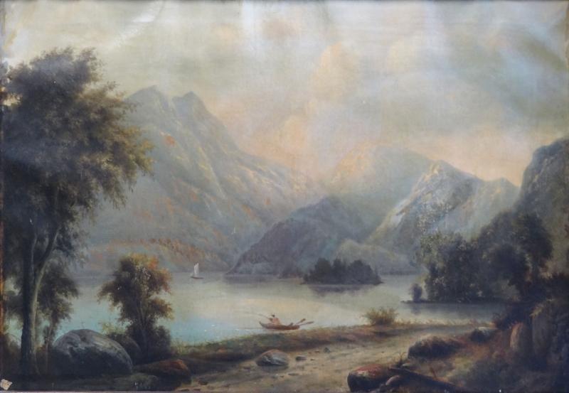 10: Unsigned 19th C. Scottish O/C Landscape of