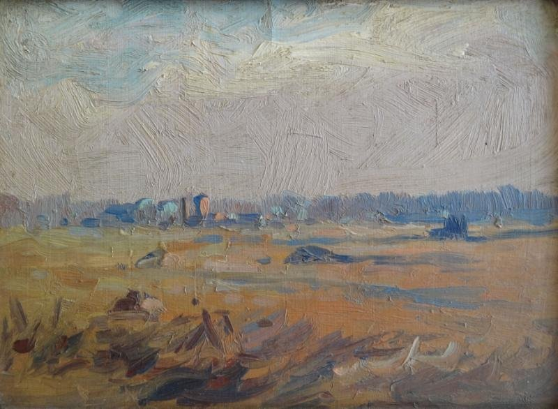 12: WRIGHT, Grant. Oil/Board Impressionist Landscape.
