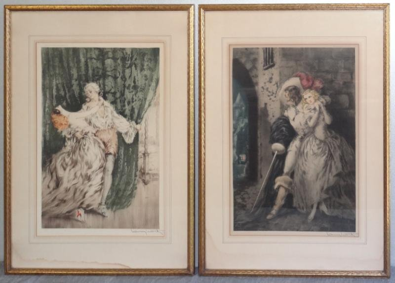 15: ICART, Louis. Two Color Drypoint Etchings.