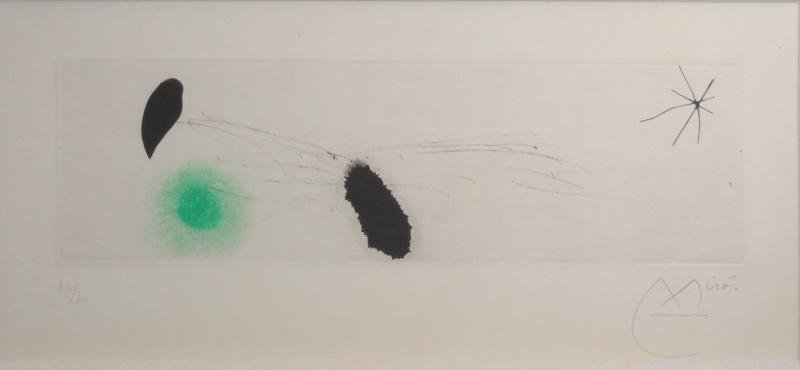 16: MIRO. Pencil Signed Etching & Aquatint.