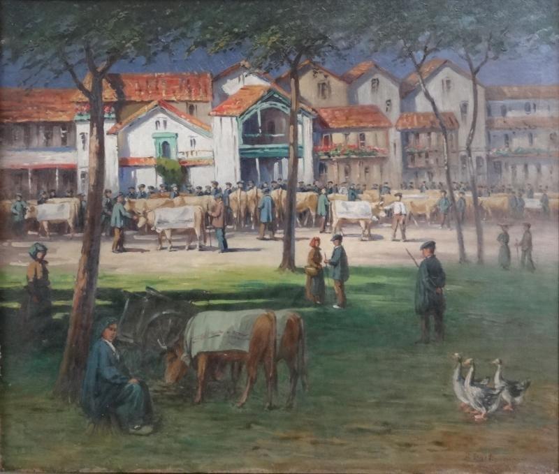 19: DARTIGUENAVE, Paul. O/C French Village Scene.