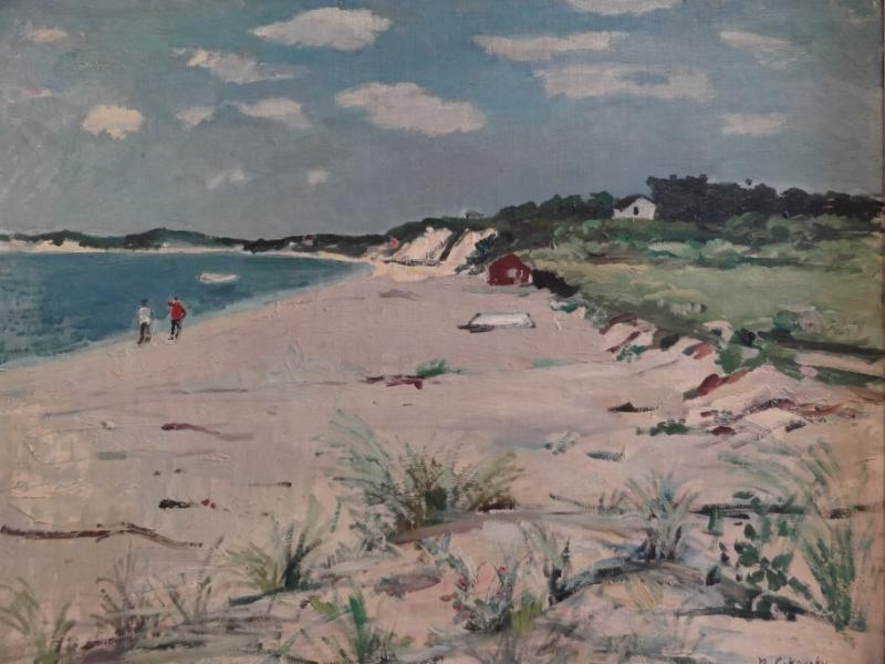 28: CIKOVSKY, Nicolai. Oil/Canvas/Board Beach Scene.