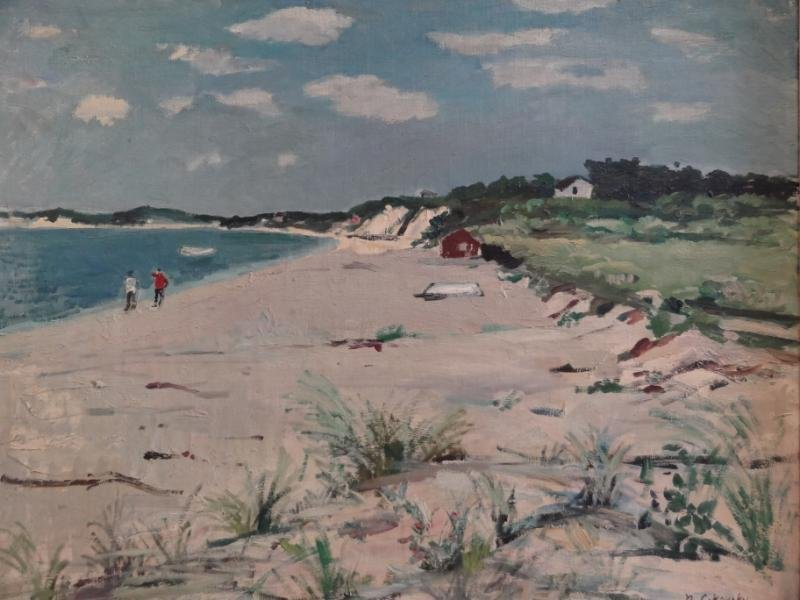 28: CIKOVSKY, Nicolai. Oil/Canvas/Board Beach Scene.