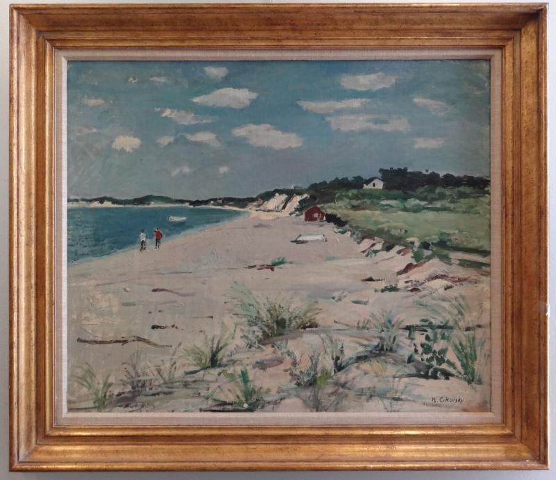 28: CIKOVSKY, Nicolai. Oil/Canvas/Board Beach Scene. - 2