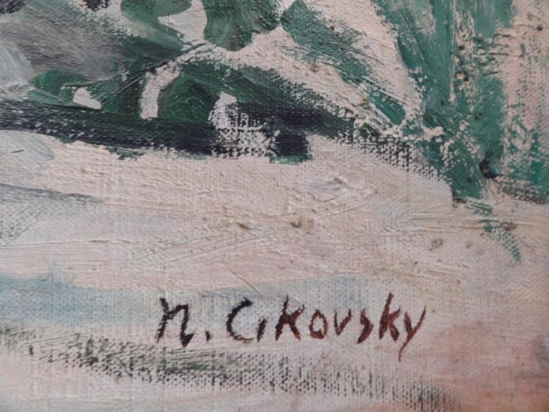 28: CIKOVSKY, Nicolai. Oil/Canvas/Board Beach Scene. - 4