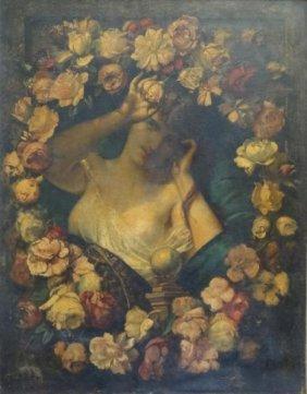 MASSON, Benedict. Trompe L' Oeil O/C Of A Beauty