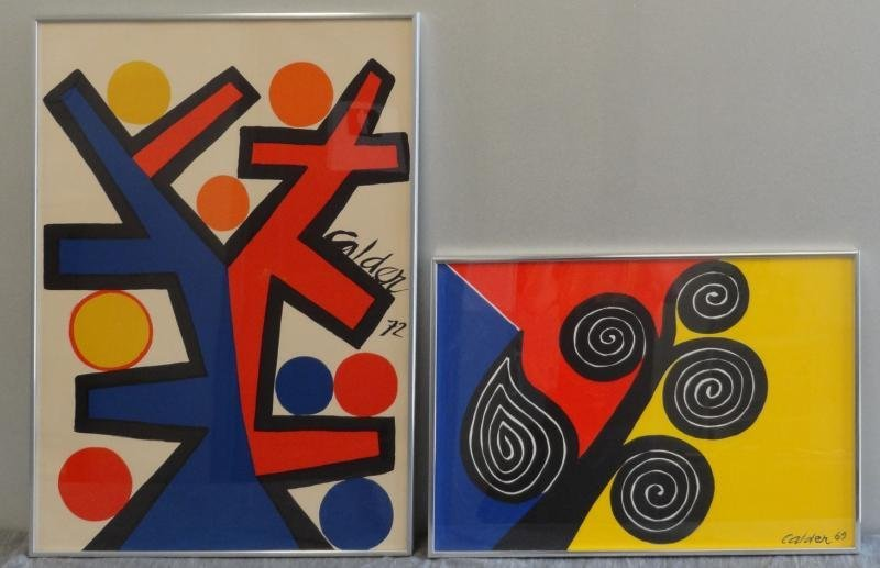 47: CALDER. 2 Color Lithographs.