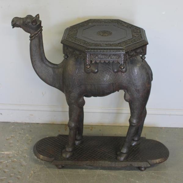 60: Large Unusual Antique Camel Form Table.